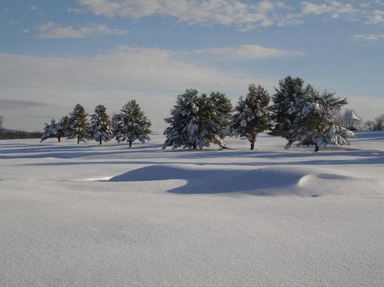 Poland Spring Resort: Winter View of the Golf Course