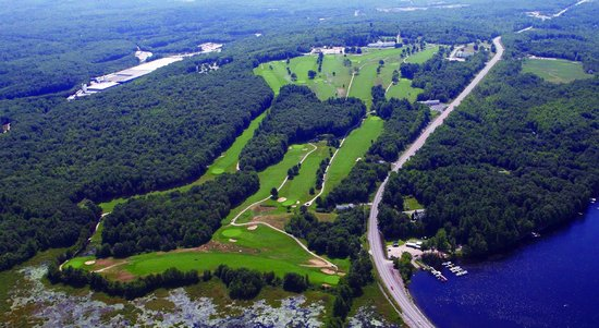 Poland Spring Resort: Areal View of the Course