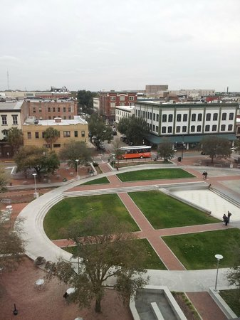 Andaz Savannah: View of Ellis Square from our room