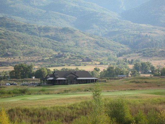 Haymaker Golf Course: Early morning view of the Clubhouse