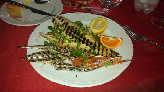 Ristorante Pizzeria Calypso : Mixed grilled seafood - EXCELLENT