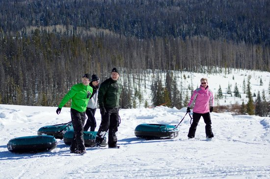 Vista Verde Guest Ranch:                   Bottom of tubing hill