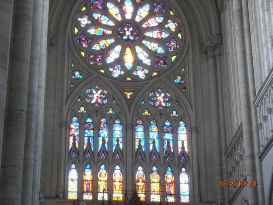 Catedral de la Plata: Rosetón de vitraux