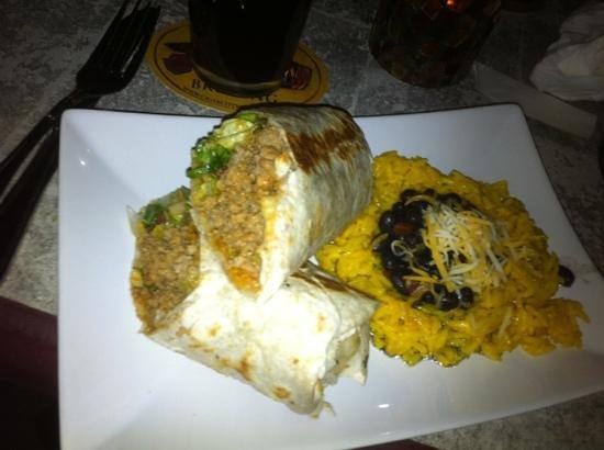 Peg's Cantina:                   burritos con riso e fagioli!!!