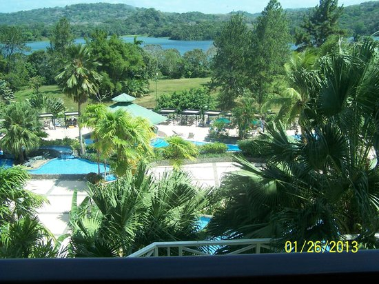 Gamboa Rainforest Resort:                   Overlooking pool area