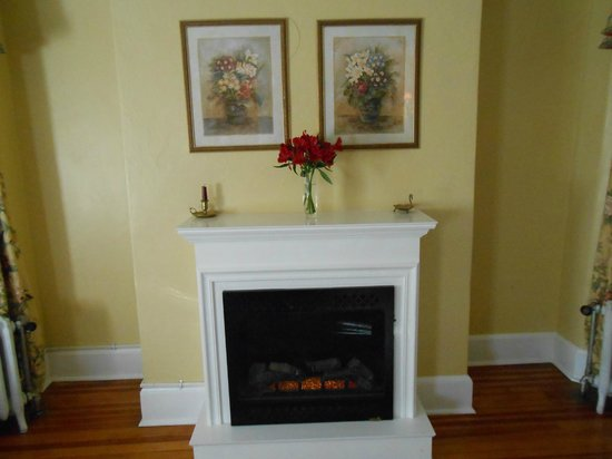 Pinecrest Bed & Breakfast:                   Great little fireplace adds warmth and ambience!