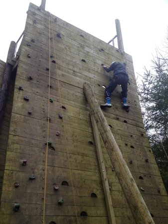 Loughcrew Adventure Centre:                   The Climbing Wall - harder than it looks!!