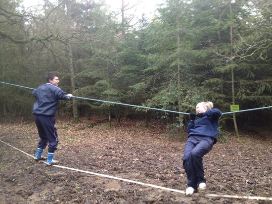 Loughcrew Adventure Centre:                   battling on the ropes! tough as hell!