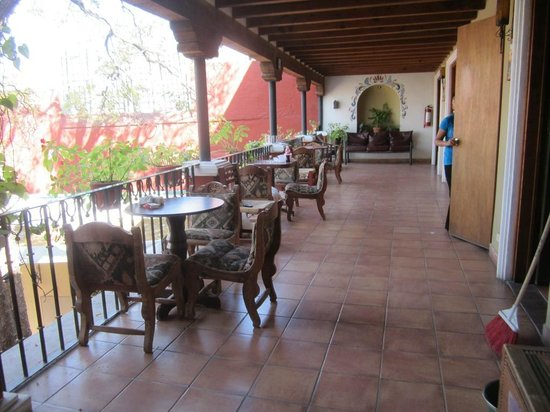 Ana Catalina:                   Area overlooking an inside courtyard, just outside my room.