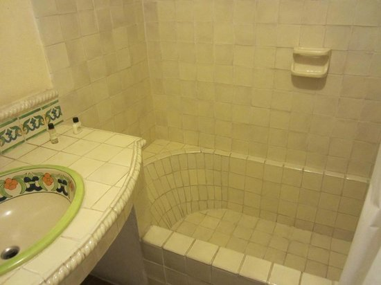 Ana Catalina:                   tiled tub that held water just fine.