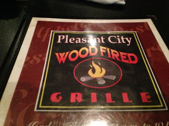 Pleasant City Wood Fired Grille:                   Front of Menu