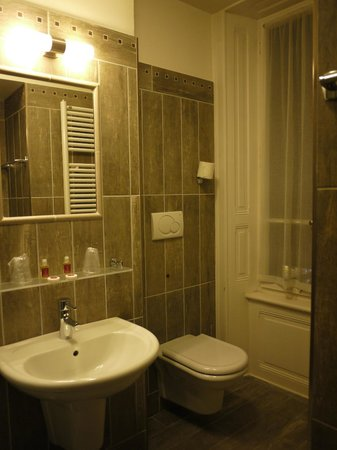 Hotel du Louvre:                   bathroom