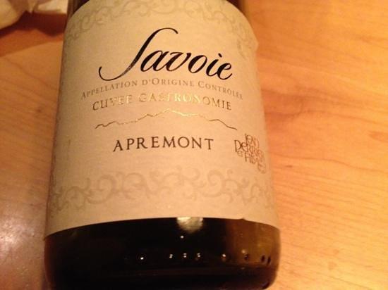 La Savoie:                   A great wine with Fondue