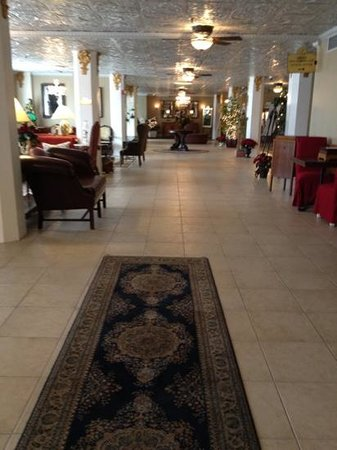 The Flanders Hotel:                                     beautiful lobby