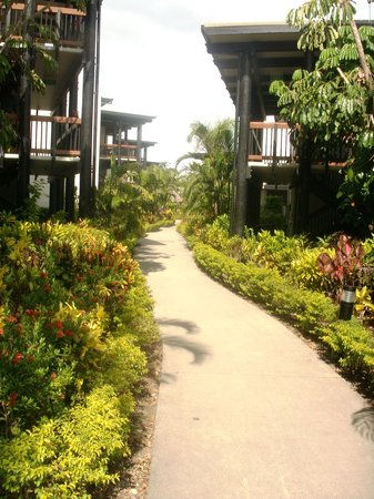 Wyndham Resort Denarau Island:                   Typical path through the gardens