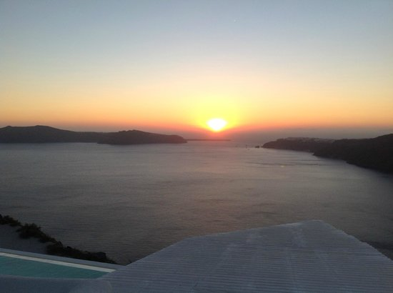 Rocabella Santorini Resort & Spa:                                                       Sunset from our Room