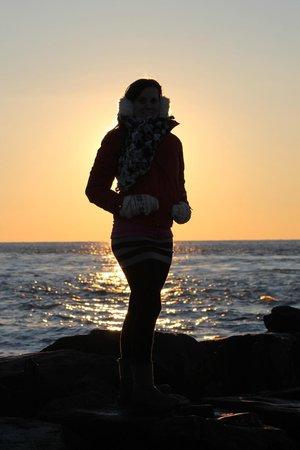 Sunset Beach : siloutte