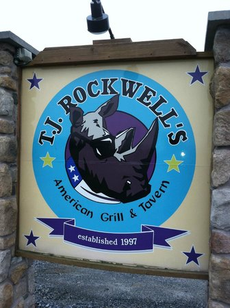T. J. Rockwell's American Grill & Tavern: very cool logo for a very cool place