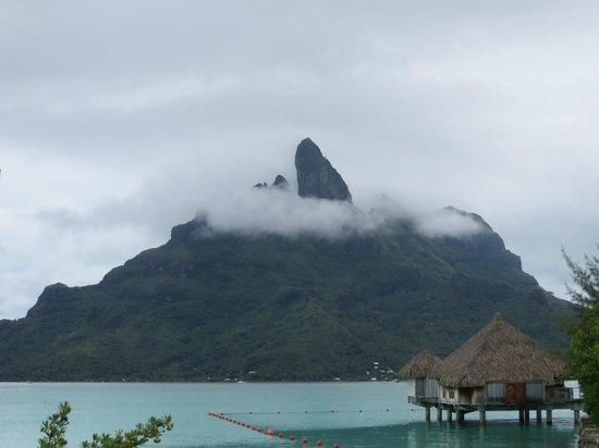 The St. Regis Bora Bora Resort:                   View from the deck.
