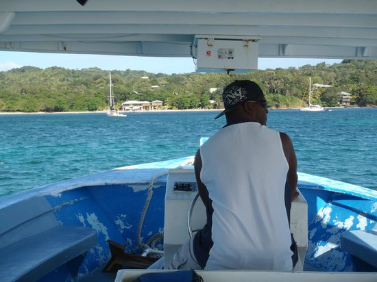 Luna Beach Resort:                                                       Amos at the Helm.
