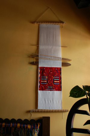 Restaurante Don Pasqual:                                     Local Lap Loom as art on the wall of Don Pasqual's