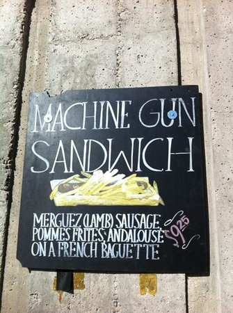 machine gun sandwich