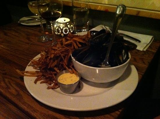 Bistro 7 1-4:                   My mussels with chorizo. Very tasty!!
