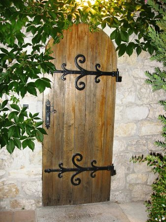 Chateau de la Chevre d'Or:                   our door!