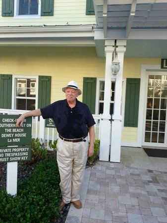 Southernmost Beach Resort:                   My husband, Bob Schwabach, stands in front of lobby.