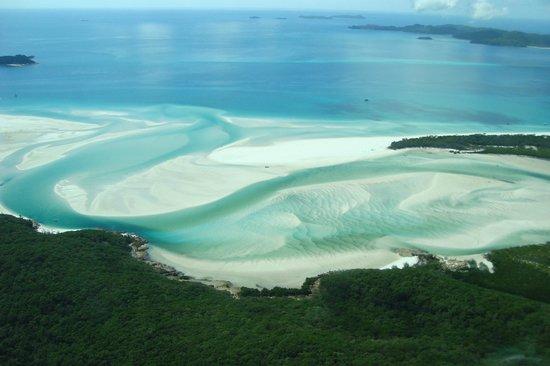 Whitsunday Islands, Australia:                   Whitehaven Beach, pure silica sand
