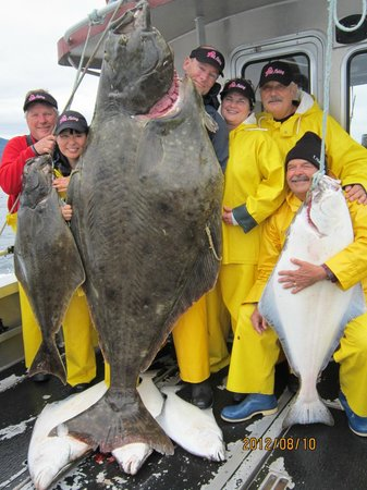 Wild Strawberry Lodge: An incredible 325 pound halibut!