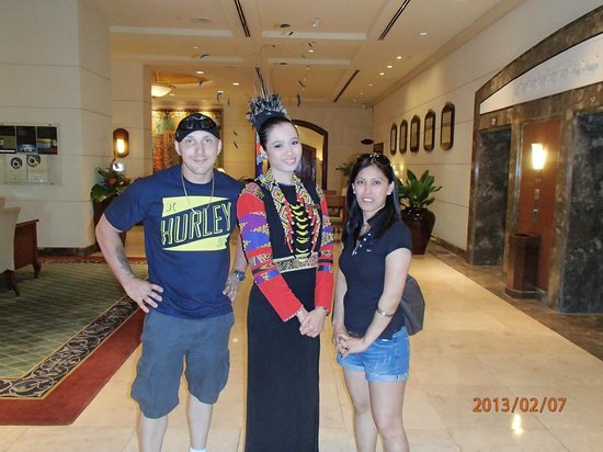 Marco Polo Davao:                   My wife and I with staff