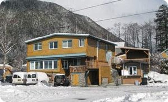 Wild Strawberry Lodge: Winter view of the Lodge