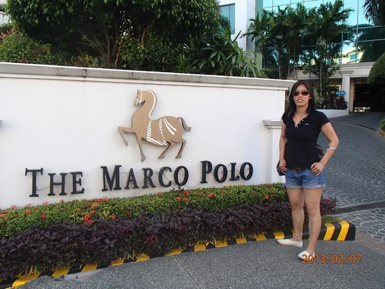 Marco Polo Davao:                   My wife at the Marco Polo