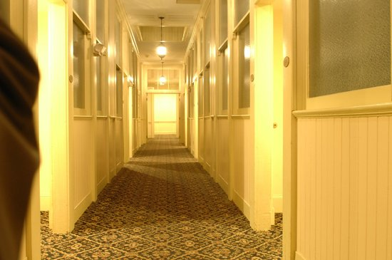 River Street Inn:                   The hidden hallway to our roon