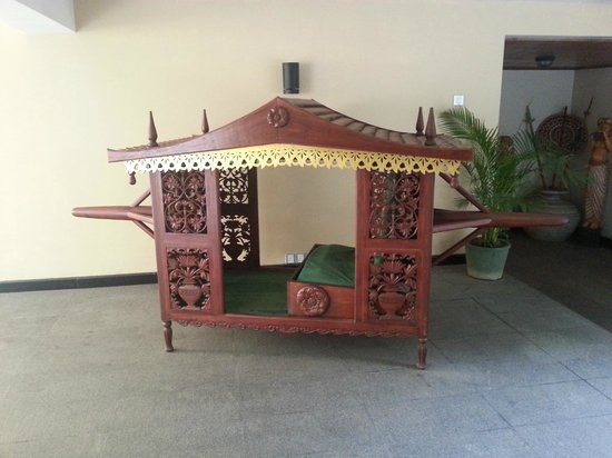 Randholee Resort & Spa:                   A palanquin as used by brides back in the day.