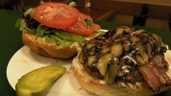 Danforth Deli and Grill : guinness cheese bacon burger