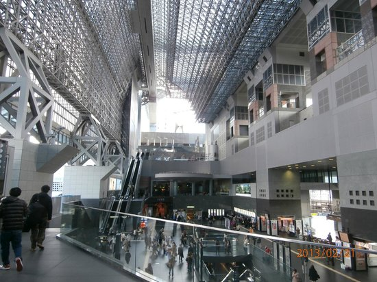 Hotel Granvia Kyoto:                   Kyoto station and hotel attrium/ventible.