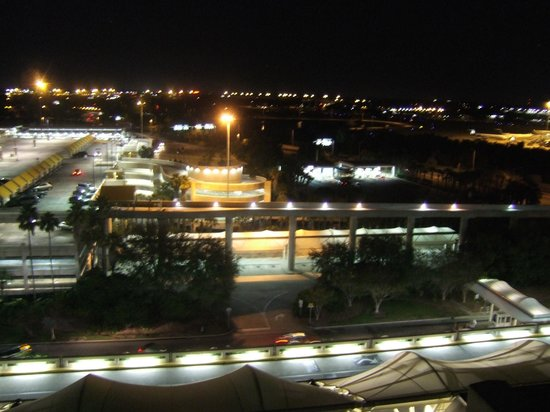 Hyatt Regency Orlando International Airport:                   Orlando Airport at night.