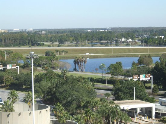 Hyatt Regency Orlando International Airport:                   View from patio.