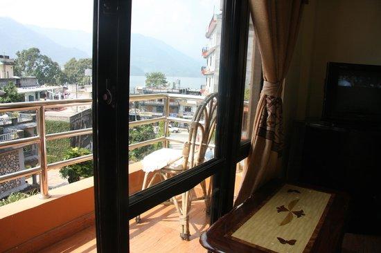 Pokhara Village Resort :                   View from Room