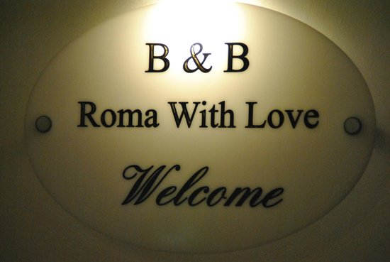 B&B Rome with Love: logo