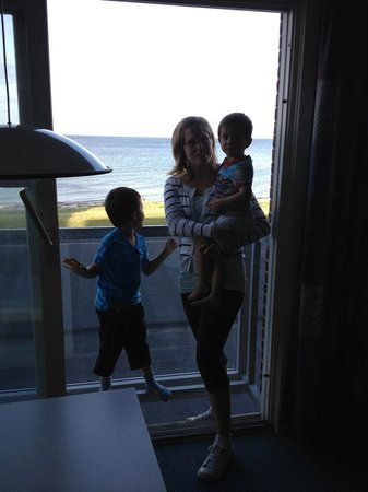 Nyborg Strand:                   Ocean view from the room