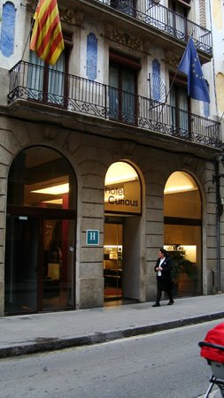 Hotel Curious:                   The hotel entrance on Carme