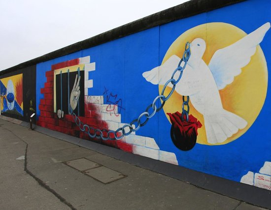 East Side Gallery:                   Time for thinking.....
