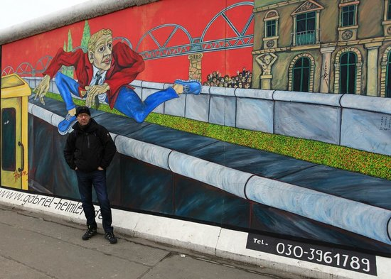 East Side Gallery:                   One of my favourite art on the mile-long stretch of the famous Berlin Wall.
