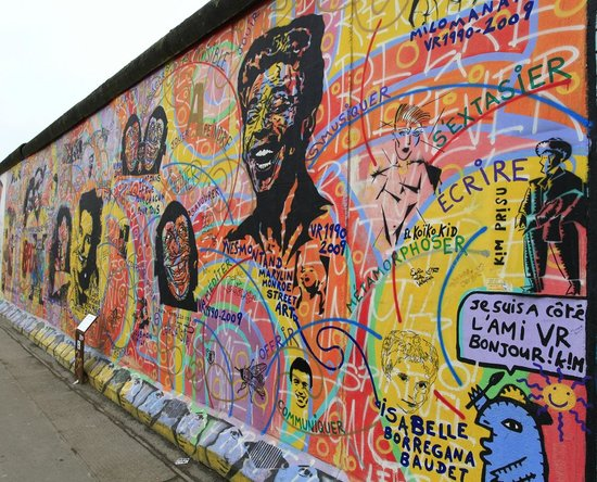 East Side Gallery:                   One of my favourite art on the mile-long stretch of the famous Berlin Wall