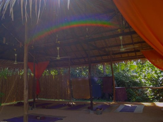 Grounded Koh Tao's Wellbeing Center : a rainbow in the yoga sala