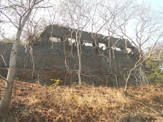 Elephanta Caves: old British fort on the island