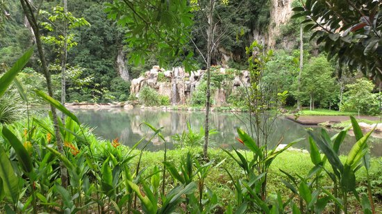 The Banjaran Hotsprings Retreat:                   Man-made waterfall